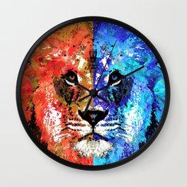 Lion Art - Majesty - Sharon Cummings Wall Clock