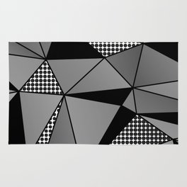 Monochrome Polygons Rug