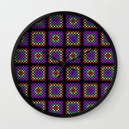 Granny square pattern Wall Clock