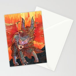 baal goetia demon Stationery Cards