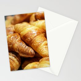 France Photography - Pile Of Croissants Stationery Cards