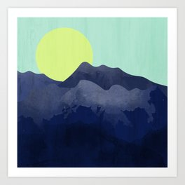 Sunset Mountain Art Print