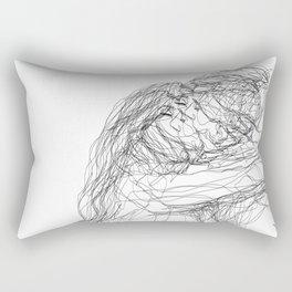 make-out? (B & W) Rectangular Pillow