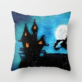Wicked Witch Is Here Throw Pillow
