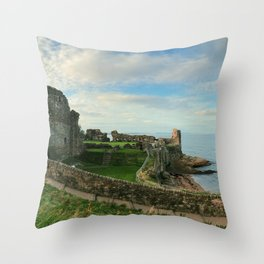Seaside Castle Throw Pillow