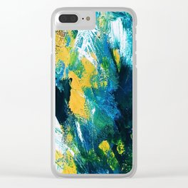 Poppy Abstract Floral Print Clear iPhone Case