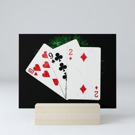 Blackjack Card Game, 21 Count, Ten Nine Two Combination Mini Art Print
