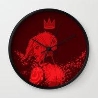 borderlands Wall Clocks featuring maya the siren by hydrae