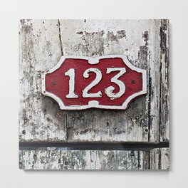 Address Plaque Metal Print