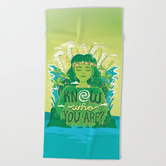 Know who you are Beach Towel
