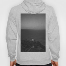 Cliff on the Ocean (Black and White) Hoody