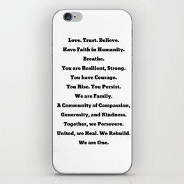 One: Hurricne Harvey Donation Art iPhone Skin
