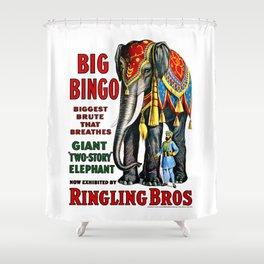 Big Bingo - Vintage 1916 Circus Poster Shower Curtain