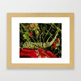 caterpillar on work! Framed Art Print