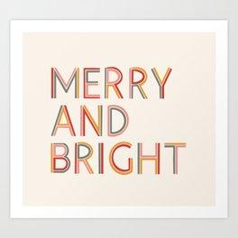 Merry and Bright Light Art Print