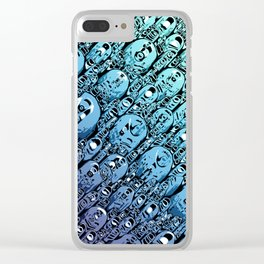 Gradient of Abstract Shapes Clear iPhone Case