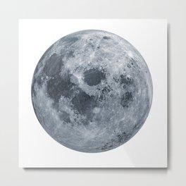 Moon Blue Tune Metal Print