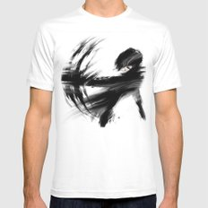 Release MEDIUM White Mens Fitted Tee