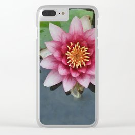 LILY PAD KOI Clear iPhone Case