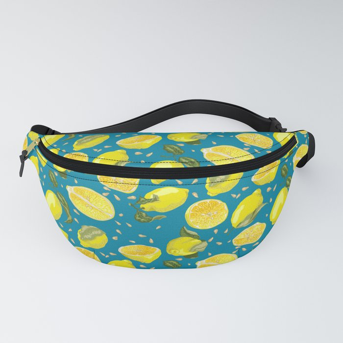 Seamless Pattern with juicy lemons Fanny Pack