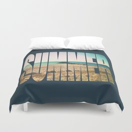 Summer - Frontignan beach in southern france - seascape Duvet Cover