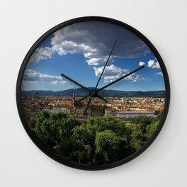 Florence Panorama Wall Clock