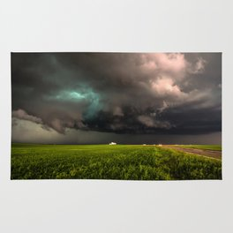 May Thunderstorm - Twisting Storm Over House in Colorado Rug