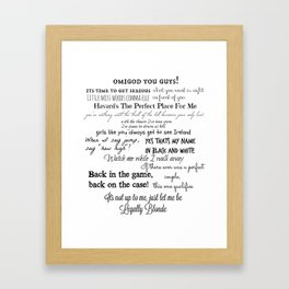 Legally Blonde Musical Quotes Framed Art Print