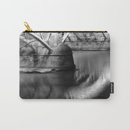 Black white bridge night photography Carry-All Pouch