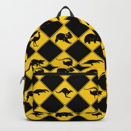 Australian Animals Road Warning Signs Backpack