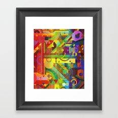 Future Patterns. Framed Art Print