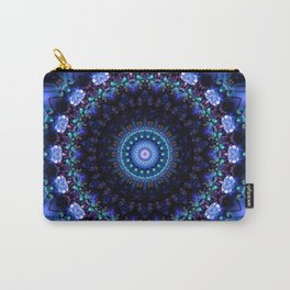 Cerulean Night Jewel Mandala Carry-All Pouch