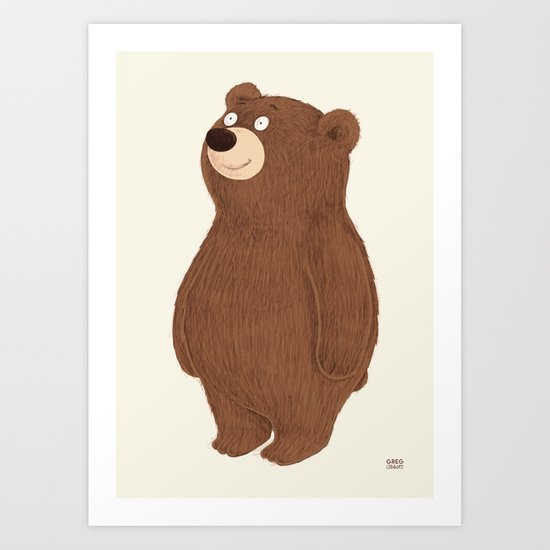 Simple Bear Art Print