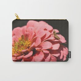 Zinnia with Grasshopper Carry-All Pouch