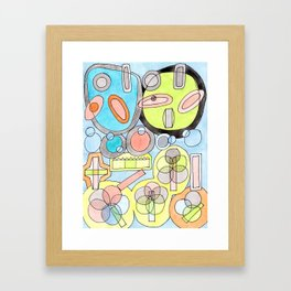 Abstract Star Colony Pattern Framed Art Print