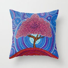 The Sakura Tree Throw Pillow