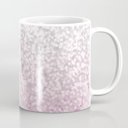 Silver and Pink Glitter Ombre Coffee Mug