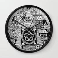 illuminati Wall Clocks featuring Illuminati by SAMMO