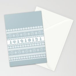 """Roll for Initiative Fair Isle in """"Snowflake"""" Stationery Cards"""