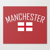 manchester Canvas Prints featuring Manchester by Earl of Grey