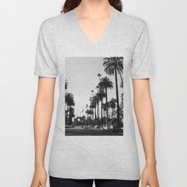 Los Angeles Black and White Unisex V-Neck