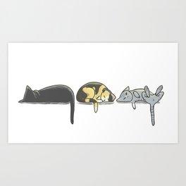 Domaine Coquelicots - Trois petits chats Art Print