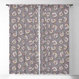 Iridescent Ammonites - Fossil Pattern Blackout Curtain