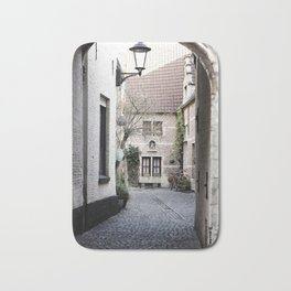 A quaint alley in the beguinage Bath Mat