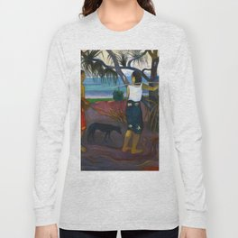 Under the Pandanus by Paul Gauguin Long Sleeve T-shirt