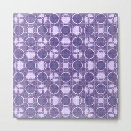 Purple Geometric Circles Metal Print