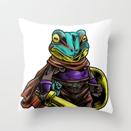 Knight Frog  Shield  Warrior  Sword  Cavalier Gift Throw Pillow
