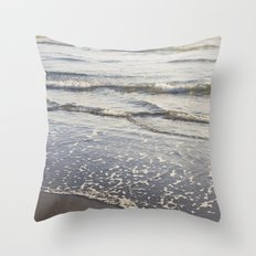 Pacific Waves at Sunset Throw Pillow