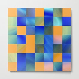 square pattern colorvariation -2- Metal Print