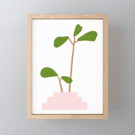 Fiddle Leaf Fig Tree Plant Framed Mini Art Print